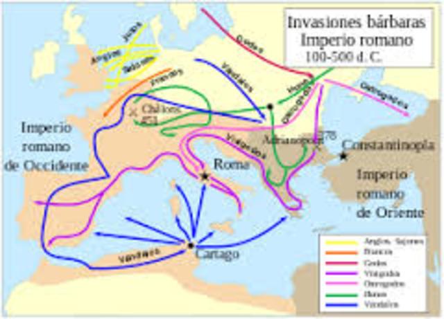 Inicio de Invaciones Germánicas