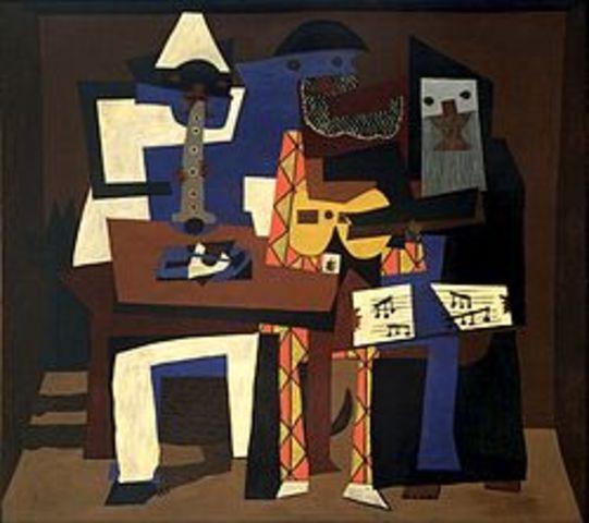"""Pablo Picaso's """" Three Muscians"""