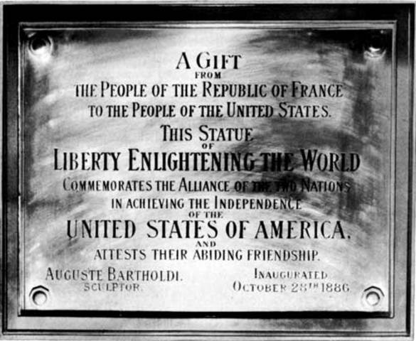 Statue of Liberty Dedication