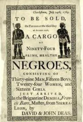 Importation of Slavery Banned