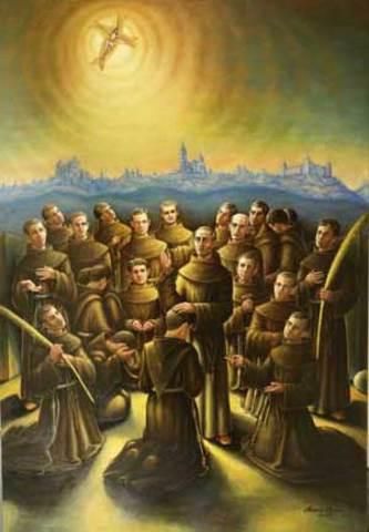 Llegada de los Franciscanos a Pamplona