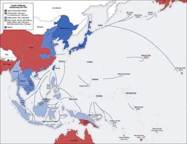 Attaque dans le pacifiques de cibles américaine pas le Japon suite à l'echec des négociations
