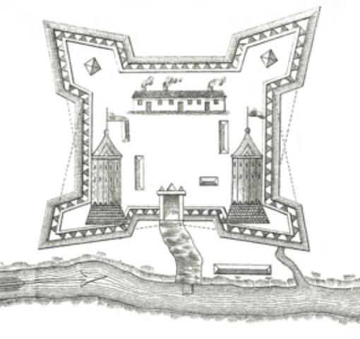 Construction du premier fort Saint-Jean