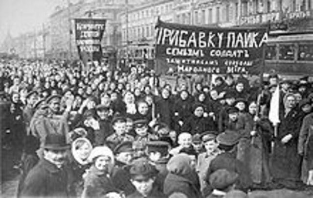 February Revolution Begins