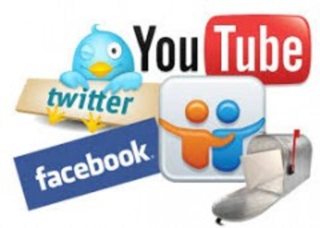 facebook, my aspace, twitter friendster