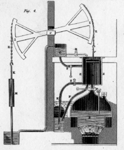 First Steam Engine Developed in England to Pump Water Out of Coal Mines