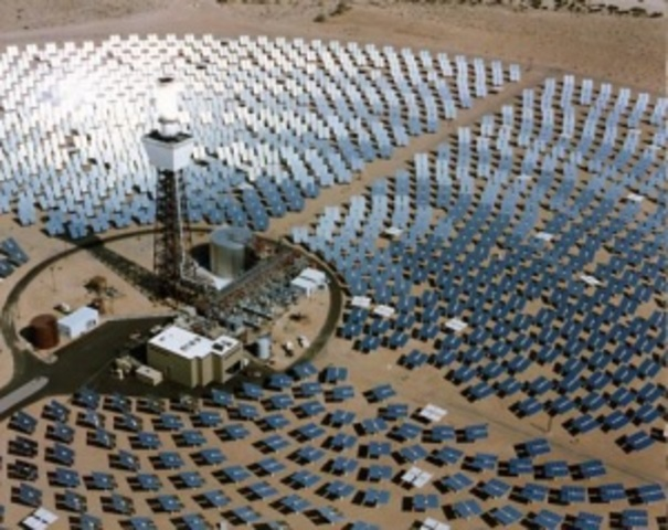 Solar One: First Large Scale Solar-Thermal Power Plant Begins Operation in Daggett, California