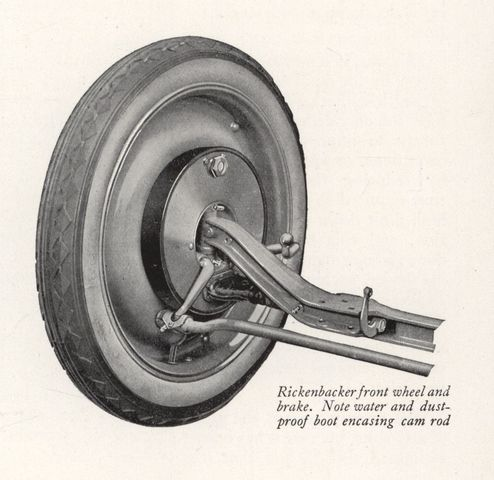 The first four wheel brakes fited to a car