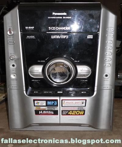 Equipo de sonido con casetera y cd