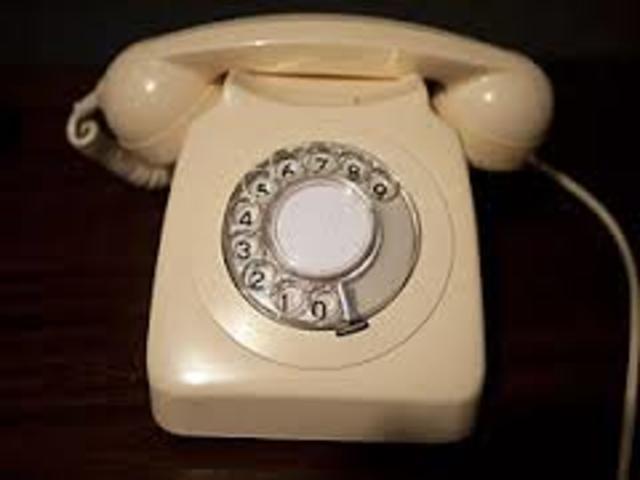 Teléfono fijo de disco