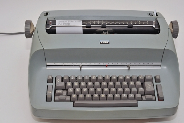 The first elctric typewriter