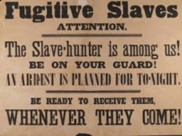 The Fugitive Act of 1850 forced me to re-route the Underground Railroad.