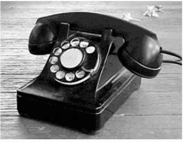 The rotary dial telephone