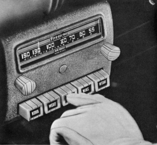 First radio installed in cars
