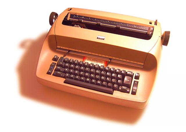 First electric typewriter