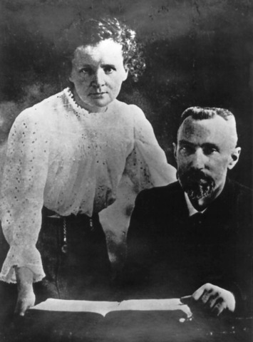 Marie and Pierre Curie begin to study Radioactivity
