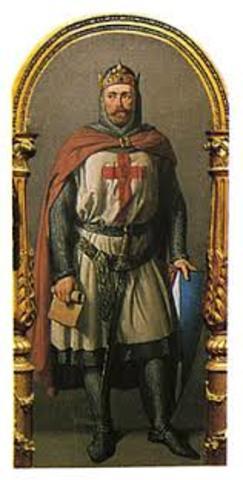 Teobaldo I dirige un ejercito cruzado a Tierra Santa