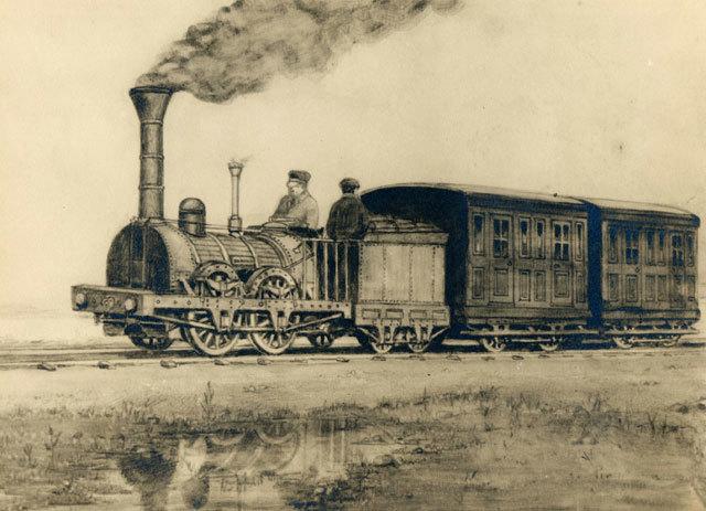 Mise en service de la Champlain & St Lawrence Rail Road