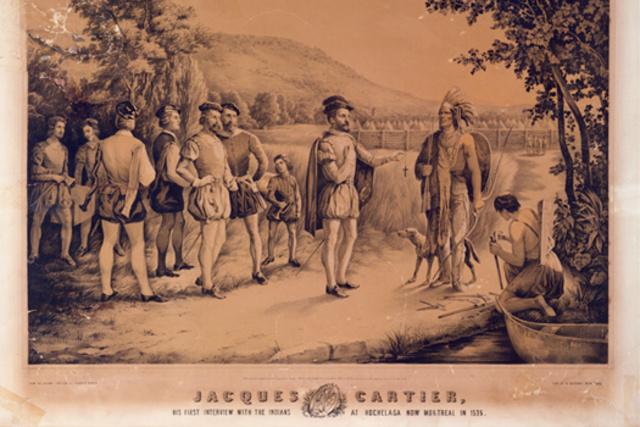 Rencontre entre les Iroquoiens et Jacques Cartier