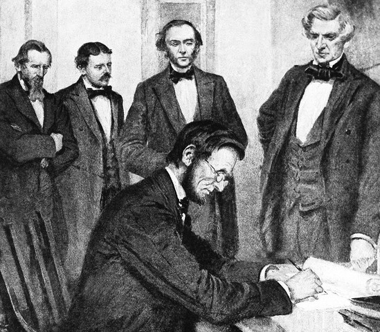 Lincoln Signed the Emancipation Proclamation