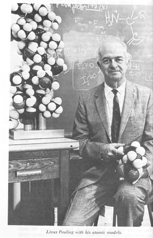 Linus Pauling proposes the idea of a triple-strand helix structure