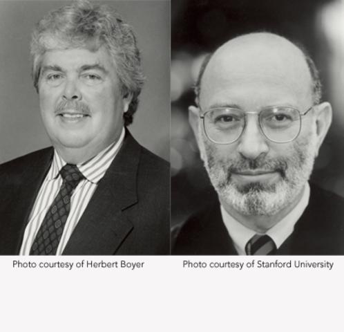 Stanley Cohen and Herbert Boyer discover recombinant DNA
