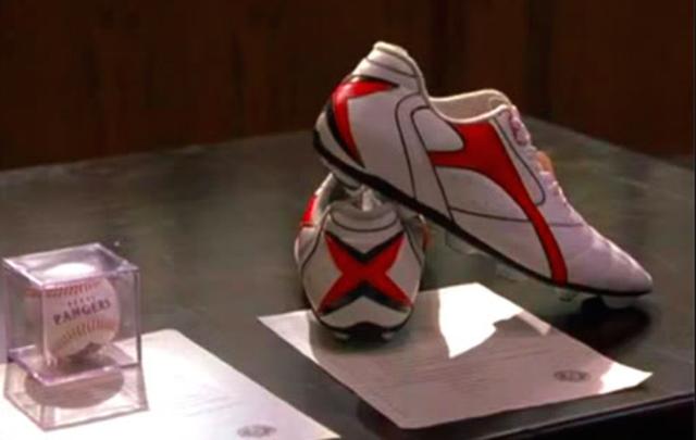 Clyde Livingtston donates his shoes