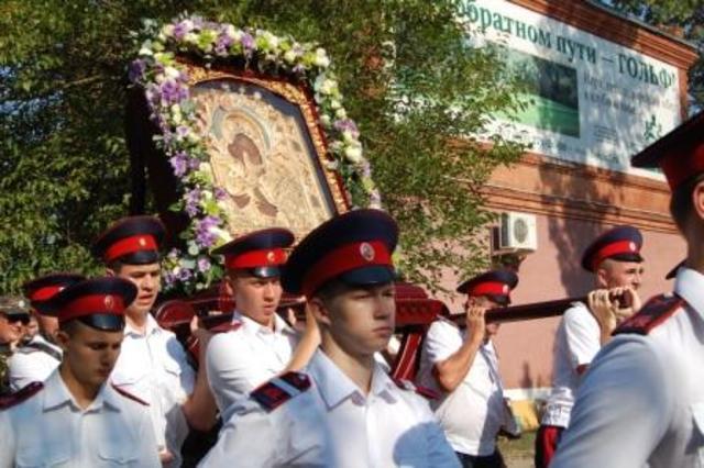 Крестный ход в честь Праздника Донской иконы Божьей матери в Старочеркасске