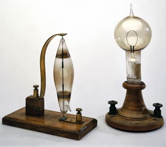 lámpara eléctrica incandescente de Edison