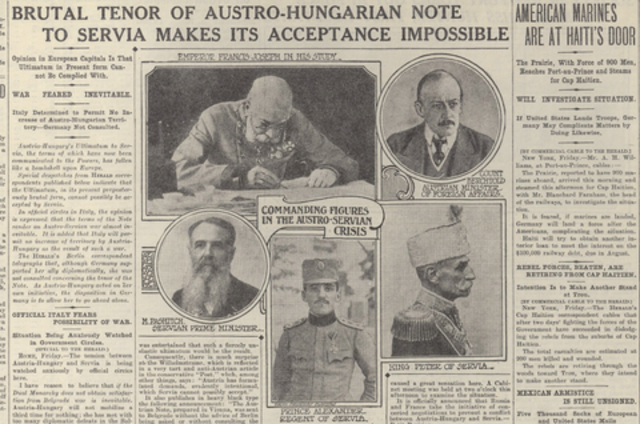 Austria-Hungary sends Serbia an impossible ultimanium