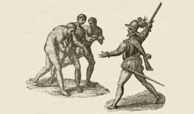 slaves arrive with christopher columbus