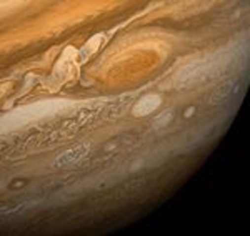 Открытие на Юпитере Красного пятна