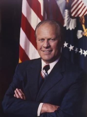Gerald Ford Becomes New Prez