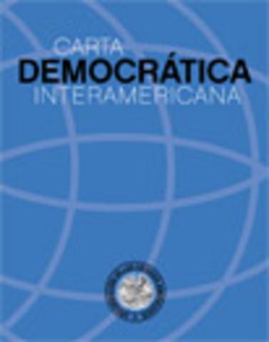 Aprobación de la Carta Democrática Interamericana