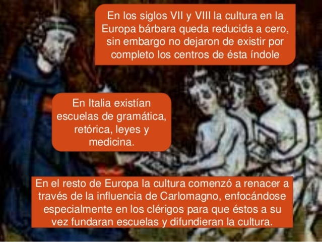 Italia y al enseñanza antigua