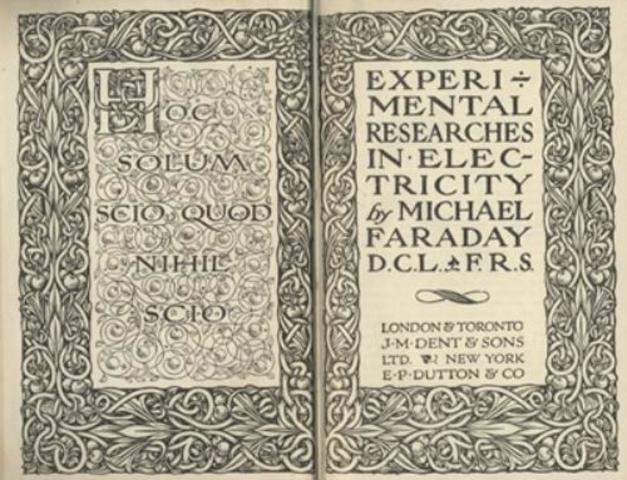 Michael Faraday publicó su primer trabajo científico.