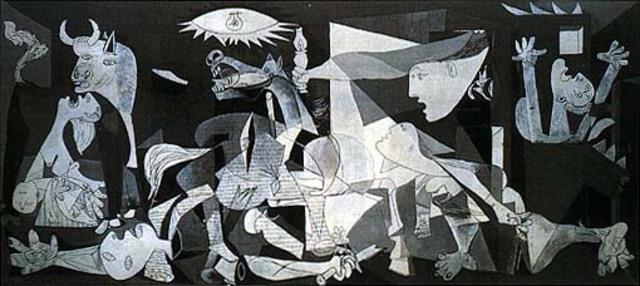 El pueblo vizcaíno de Guernica es bombardeado por fuerzas rebeldes integradas por aviones alemanes e italianos.