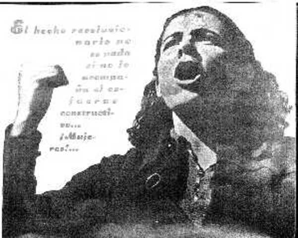 La República iguala por decreto los derechos jurídicos de la mujer con los del hombre.