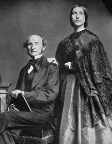 Stuart Mll se casa con Harriet Taylor
