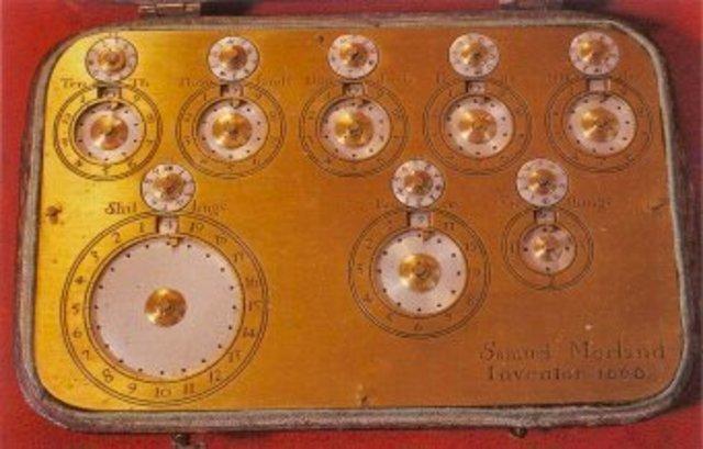 Invención de la primera máquina de calcular