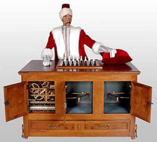"Aparece el autómata ajedrecista ""El Turco""."
