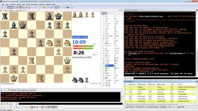 Internet Chess Server: primera página web de ajedrez.