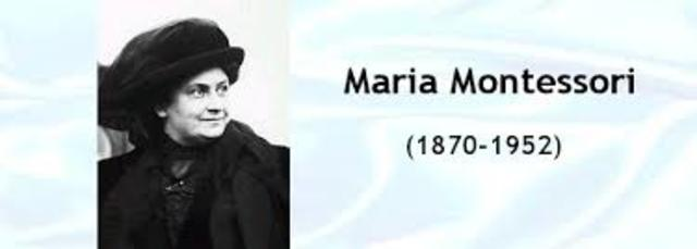 Fallecimiento de Maria Montessori
