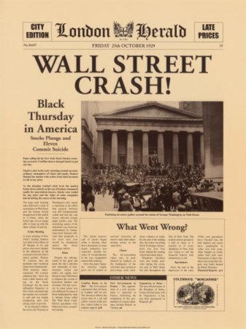 Caida de la bolsa de Nueva York y la Gran Depresión