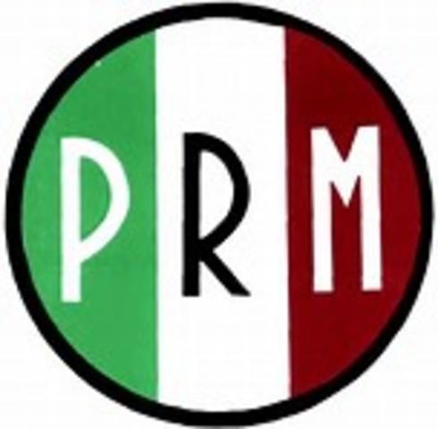 El PNR se transforma en el Partido de la Revolución Mexicana