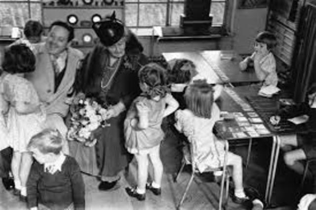 Montessori estableció la primera Casa de los Niños.