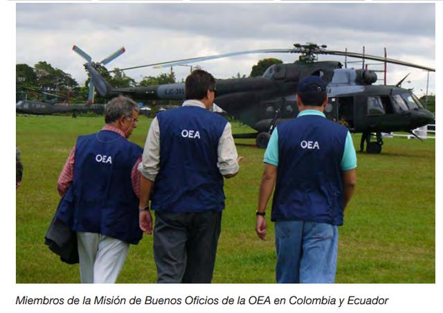 Mision de Buenos Oficios, Colombia-Ecuador