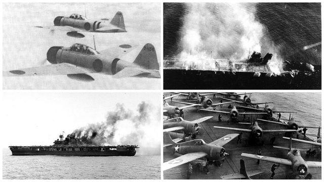 Batallas del Mar del Coral y Midway