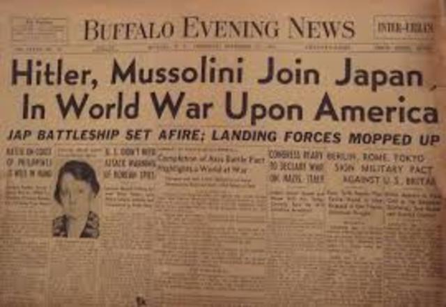 USA declares war on Japan