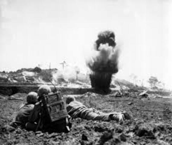 Start of Battle for Okinawa Islands